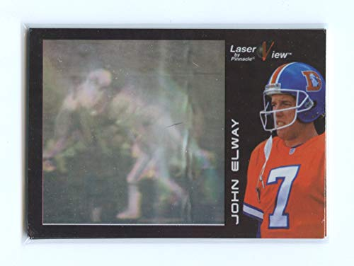 1996 Pinnacle Laser View Promos #5 John Elway Denver Broncos Promo Card- Mint Condition Ships in New Holder