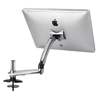Cotytech Expandable Apple Desk Mount Spring Arm Grommet Base - Silver