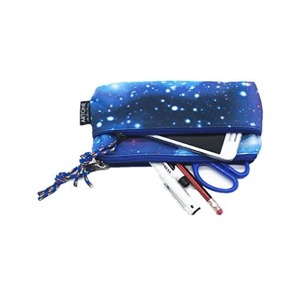 Artone Large Capacity Universe Galaxy Pencil Case Pen Bag Pounch Blue - more-bags