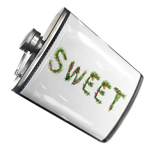 Sweet Branch (NEONBLOND Flask Sweet Christmas Tree Branch Hip Flask PU Leather Stainless Steel Wrapped)