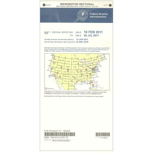 Price comparison product image FAA Chart: VFR Sectional WASHINGTON SWAS (Current Edition)