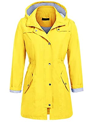 Unibelle Womens Lightweight Hooded Waterproof Active Outdoor Rain Jacket S-XXL