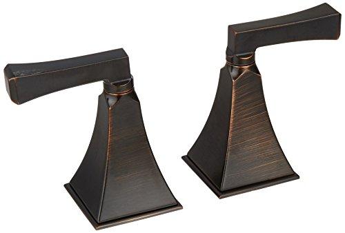 KOHLER T467-4V-2BZ Memoirs Stately Deck-Mount High-Flow Bath Valve Trim and Deco Lever Handles, Oil-Rubbed Bronze