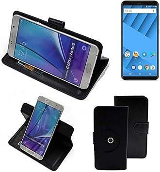 K-S-Trade 360° Funda Smartphone Compatible con Vernee M6, Negro ...