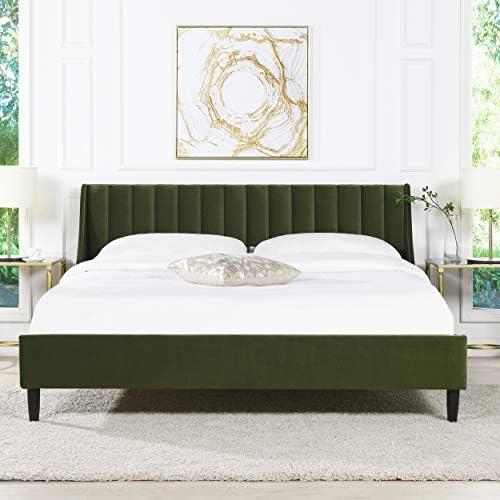 Sandy Wilson Home Marlowe Vertical Tufted Headboard Platform Bed Set