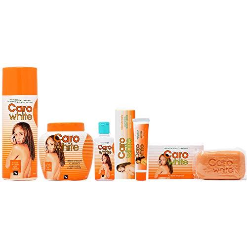Caro White Package I (Lotion + Cream 16.9oz + Oil 1.7oz + Cream (Tube) 1oz + Soap ()