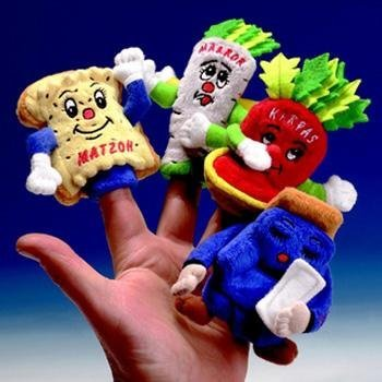 (Passover Four Questions Finger Puppets)