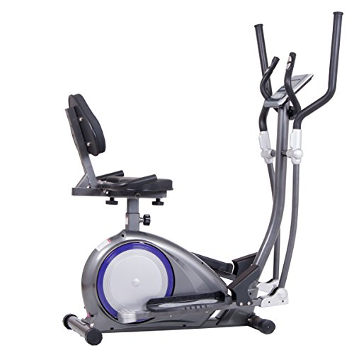 Body Power 3-in-1 Trio Trainer / Elliptical, Upright Stationary, and Recumbent Exercise Bike ALL IN ONE Space Saving Machine BRT6300