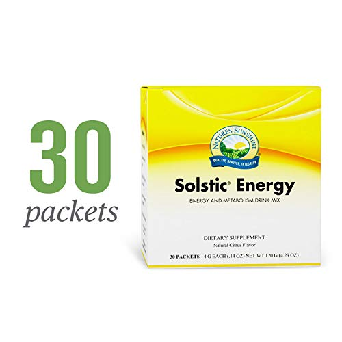 Nature's Sunshine Solstic Energy, 30 Packets | Energy Drink Powder in Individual Packets with 60mg of Natural Caffeine from Guarana Seed Extract