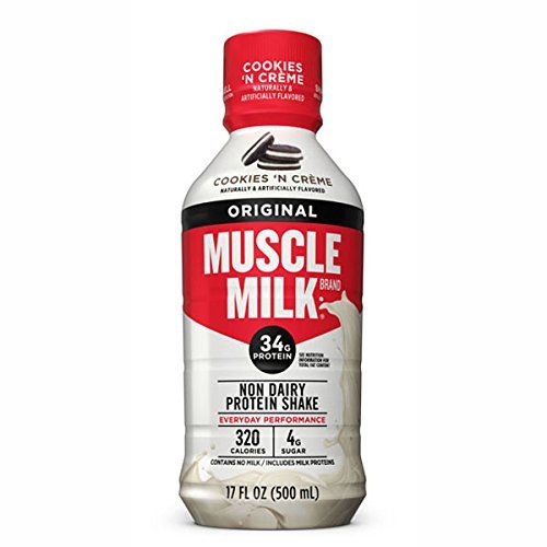 CytoSport Muscle Milk Ready-to-Drink Shake, Cookies and Creme, 12 – 17 Ounce Containers
