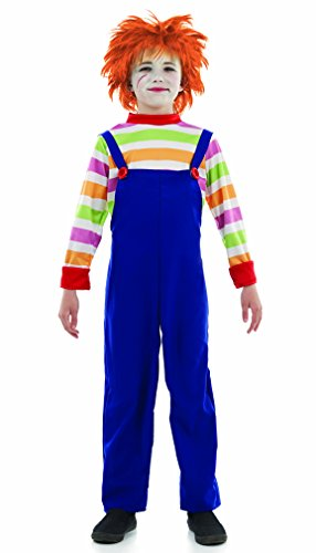 [Kids Chucky Style Evil Dummy Costume Large 8-10 years by Fun Shack] (Chucky Costume For Kids)