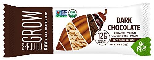 Go Raw Protein Bar, Dark Chocolate, 1.9 Ounce (Pack of 12)