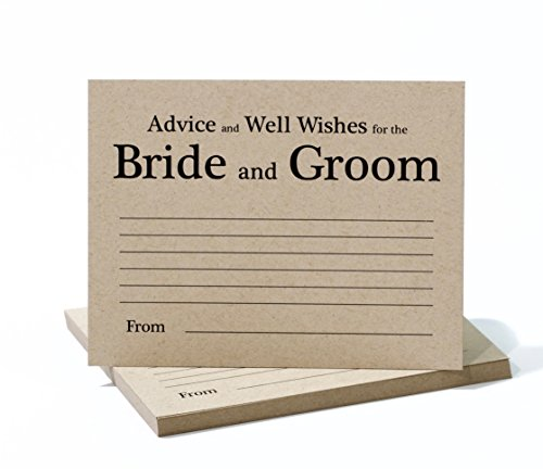 Wedding Advice Cards Rustic Kraft Theme - Fun Game For Reception or Bridal Shower - Set of (Wedding Reception Games)