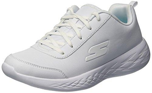 GO Run 600 Sneaker, WHT, 5 Medium US Big Kid ()