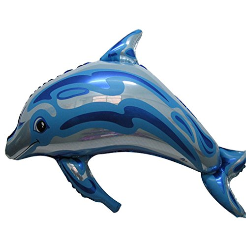 - bjlongyi 10 Pcs Inflatable Foil Balloons,Dolphin Shape Balloon Party Supplies for Wedding Birthday Party Blue