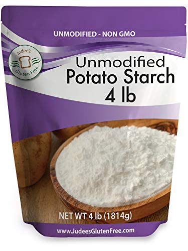 Judee's Unmodified Potato Starch (4 lbs) Non-GMO & Gluten Free