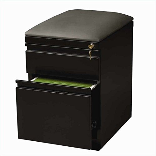 Hirsh Industries 20″ Deep Mobile Seat Box-File Cabinet in Black