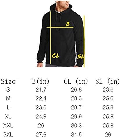 Maryat Pacquiao Mens Casual Sweater Autumn Winter Warm Sweater Hoodie Hooded Sweatshirt Black