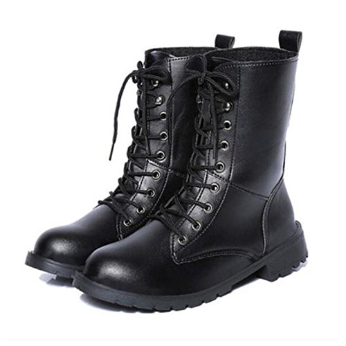 Black US7.5   EU38   UK5.5   CN38 Black US7.5   EU38   UK5.5   CN38 HSXZ Women's shoes PU Winter Fall Comfort Boots Chunky Heel Round Toe Booties Ankle Boots for Casual Black