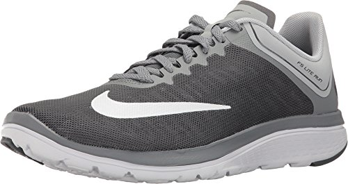 (Nike Women's FS Lite Run 4 Running Shoe Dark Grey/White/Wolf Grey/Cool Grey Size 8.5 M US)