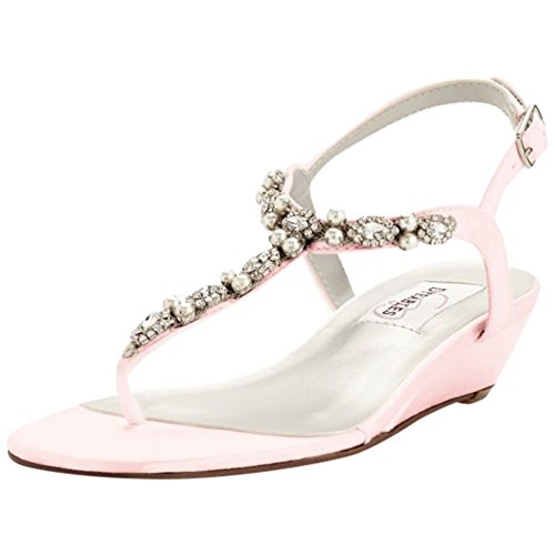 Davids Bridal Myra Dyeable Low Wedge Thong Sandal Style Myra Petal tLie1EJf