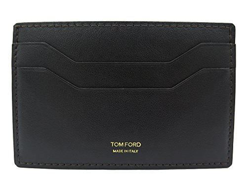 Tom Ford Brown Leather Photo ID Card - Ford For Men Tom Wallets