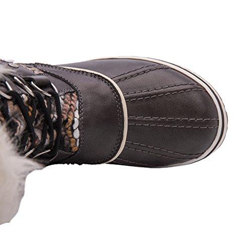 Women's Grey Boots Kingshow Waterproof Globalwin 6 Winter White qXwwRHdF