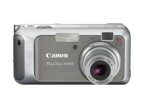 - Canon PowerShot A460 5.0MP Digital Camera with 4x Optical Zoom (Silver)