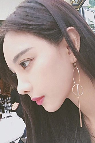 Generic Europe and America exaggeration big circle just the right combination of geometric earrings long section temperament tassel big earrings woman with jewelry
