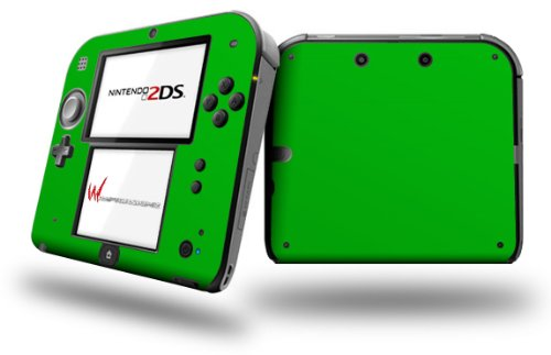 Solids Collection Green - Decal Style Vinyl Skin fits Nintendo 2DS - 2DS NOT INCLUDED (OEM - Green Oem Faceplate
