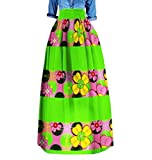 Mfasica Women Highwaist Dashiki Africa Big Pendulum Party Elegant Long Skirt 6 4XL