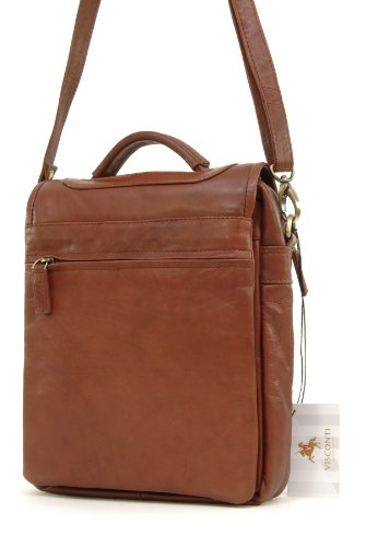 Braun Borsa organizer Unisex Visconti pelle adulto in Marrone FZTxH40