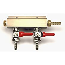 2-way Air Co2 Distributor Manifold 1/4 inch by Kegconnection