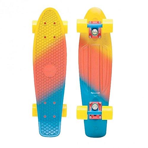 Penny Nickel Fade Complete Skateboard, Canary, 27