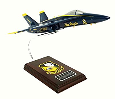 Mastercraft Collection Boeing F/A-18A Hornet Blue Angels USN Model Scale:1/38