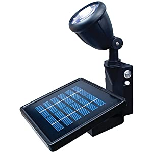 MAXSA Directionally Focused Solar LED Flag Light, Black, with Hardware for Flag Poles 40334