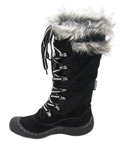 Muk Luks Donna Gwen Lace Up Snow Boot Nero / Grigio