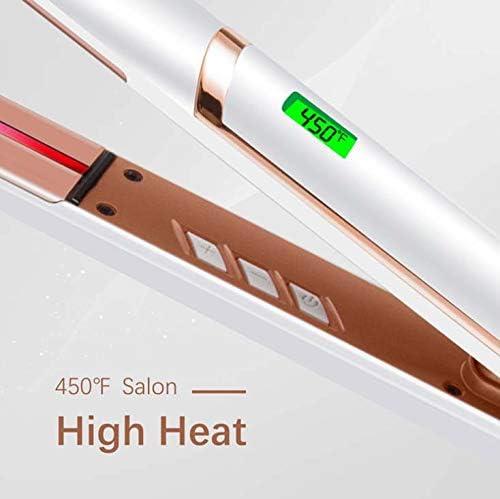 LCDInfrared Straighteners,Adjustable Temperature, 2 in 1 Hair Straightener and Curler,Ceramic Tourmaline,for Straightening and Curling,Hair Styling Tool  LoyAC
