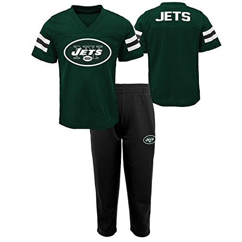 (Outerstuff NFL NFL New York Jets Infant Training Camp Short Sleeve Top & Pant Set Hunter Green, 12 Months )