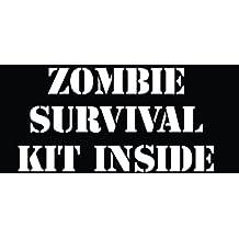 Zombie survavil kit inside Sticker Die Cut Decal hunting