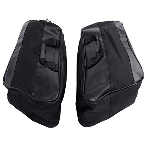 TCT-MT Hard Saddlebag Liners luggage Travel Pak Pack Fit Harley Touring Road King FLT FLHT FLHTCU FLHRC Street Electra Glide Ultra-Classic 1997-2013 FLHTC FLHTCUSE8 FLHTK FLHTCUSE7 Black Motor ()