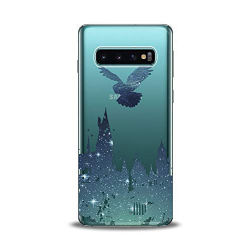 Cell Phone Potter Harry - Lex Altern Samsung Galaxy TPU Case s10 Plus 10e Note 9 s9 s8 s7 Edge Blue Watercolor Owl Harry Castle Cover Silicone Elegant Shiny Print Beautiful Kid Magician Boy Design Transparent Girls Joyful
