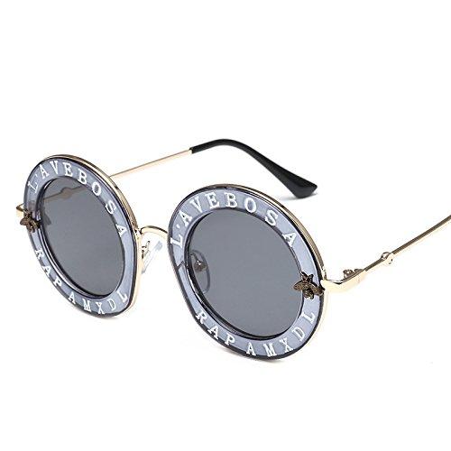 de la de Personalidad Sol ZZ Metal Marco del Coreanas Caja Gafas gris negra ceniza de Marea Leopardo la 5XnqwffH