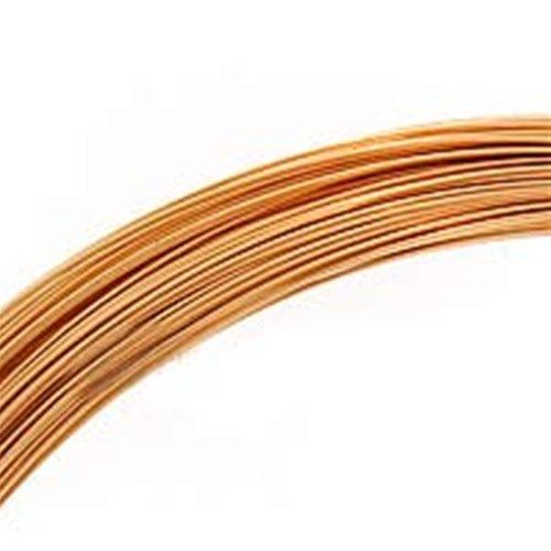 Beadaholique 1/2 Oz (41 Ft) Gold Filled Wire 26 Gauge -Round-Half Hard