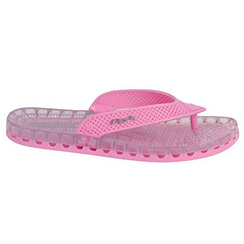 0cd3936aad390 Pink Barcelona Unisex Spa Shower Waterproof Flip Flops (US 9 - Sensi Size  10)