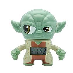 BulbBotz Star Wars Yoda Kids Light Up Alarm Clock   green/brown   plastic   3.5 inches tall   LCD display   boy girl   official