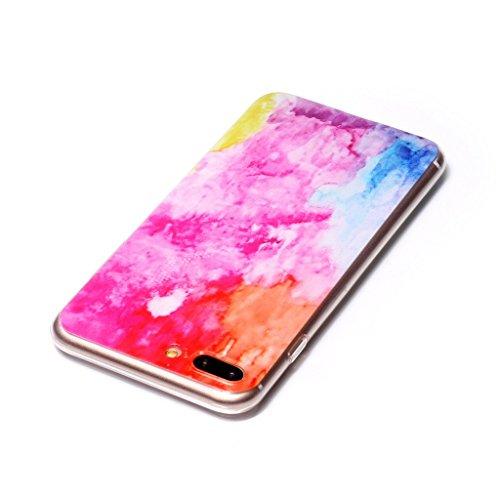 """iPhone 7 Plus Hülle , Leiai Mode Farbe Wolke TPU Weich Tasche Schutzhülle Silikon Handyhülle Stoßdämpfende Schale Case Shell für Apple iPhone 7 Plus 4.7 Plus"""""""