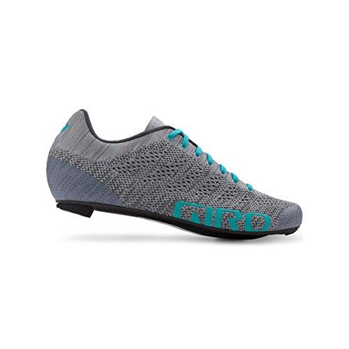 Giro Empire E70 Knit Road, Zapatos de Ciclismo de Carretera para Mujer Multicolor (Grey/Glacier 000)