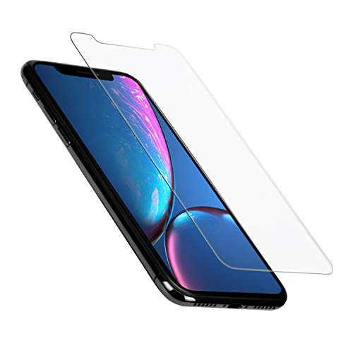 PITAKA Screen Protector iPhone XR 6.1, 0.33mm Tempered Glass Phone Accessories Screen Protector 2.5D with [Alignment Frame] Slim Anti-Fingerprint, Smudge & Bubble Free Easy Installation