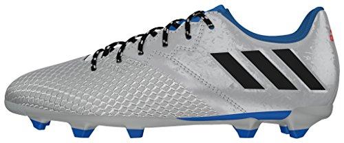 adidas Messi 16.3 Fg J, Botas de Fútbol para Niños Plata (Plamet / Negbas / Azuimp)
